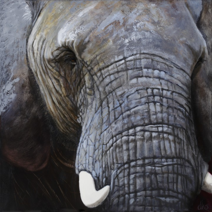 from the Maryland Zoo in Baltimore, 24 x 24 oil on wood panel, 2015 SOLD